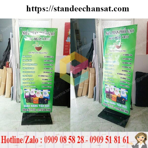 standee chan sat quang cao