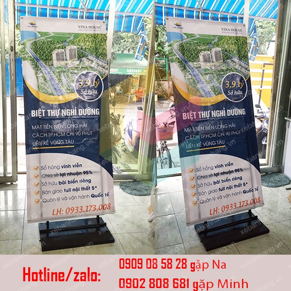 standee chan sat treo pp quang cao